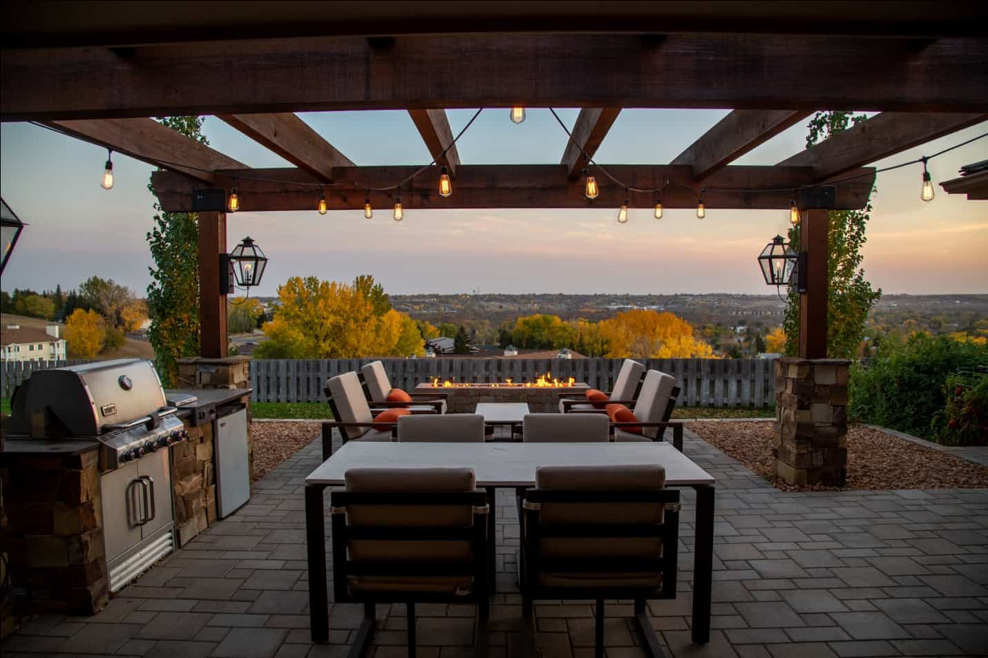 Patio during Golden Hour