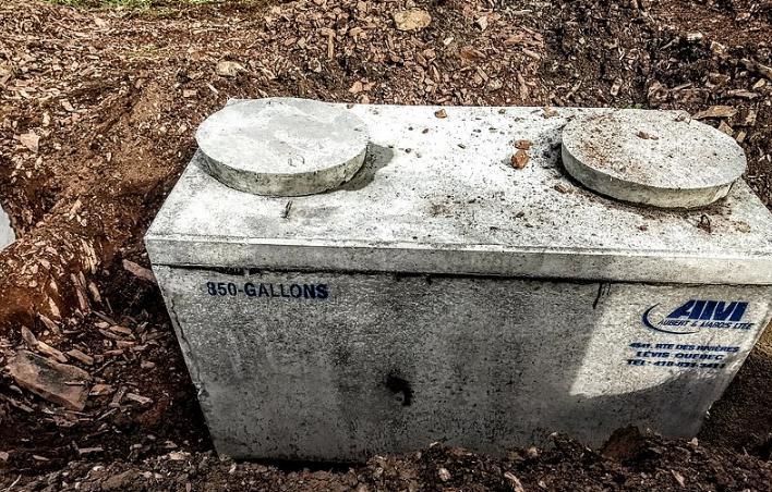 an underground septic tank (small)