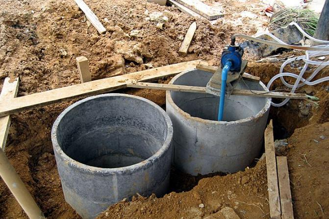 An empty septic tank