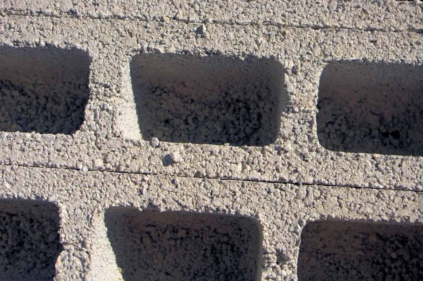 Cinder block closeup